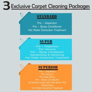 3 exclusive carpet cleaning packages 300x300